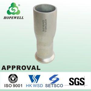 Tubería de acero inoxidable de alta calidad Prensa sanitarios para sustituir a adaptadores de montaje de aluminio flexible de acero inoxidable tubo adaptador de plástico