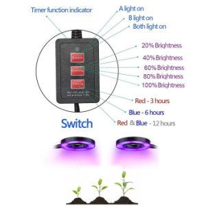 18WタイミングのDimmable熱い販売機能LEDは軽い二重ヘッドプラントを育てるライトを育てる