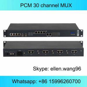ファイバーまたはE1 PCMのマルチプレクサ装置上の30のチャネルの電話