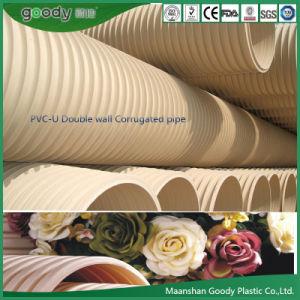 Goody PVC-U Double-Wall Tubo Corrugado Tubo de PVC para drenaje de aguas residuales industriales