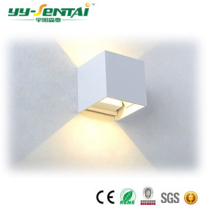 IP 65の屋内正方形の壁ライト6With10Wセリウムの証明