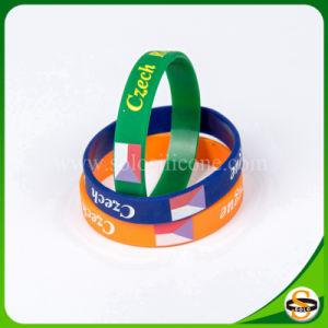 Braccialetto su ordinazione del silicone di marchio di alta qualità calda di vendita