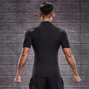 습기 Wicking 주문 로고를 가진 사려깊은 Zip 남자의 적당 t-셔츠