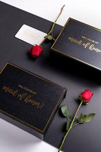 공상 까만 Foldable 서류상 선물 상자