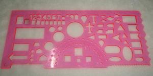 Righello di plastica della cancelleria del banco del righello del righello del modello del righello della geometria
