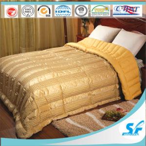 Conjunto de roupa de cama Edredon de penas de pato Quilting Consolador colcha de seda Tampa para Hotel Home