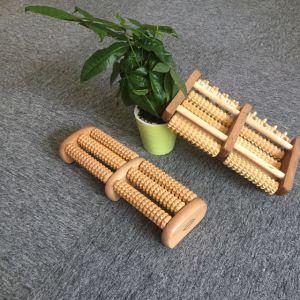 Cuerpo Sano masaje de madera pie RODILLO rodillo de madera