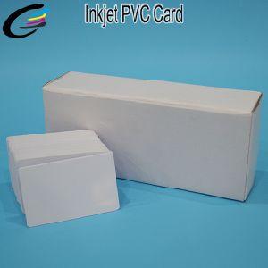 O cartão de identificação PVC em branco para impressão jato de cartão inteligente