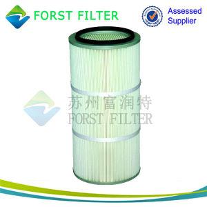 Forst Spunbond 분말 코팅을%s 짠것이 아닌 직물 먼지 필터 카트리지