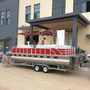 グループの喜びおよびスポーツのセリウムのための7.5mアルミニウムポンツーンのボートは承認する