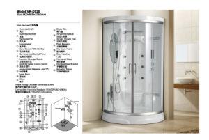 優雅で白く高い販売の蒸気部屋のシャワー室(D520)
