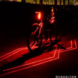 USB аккумулятор велосипед лазерный Lane безопасности задний фонарь (BS-05)