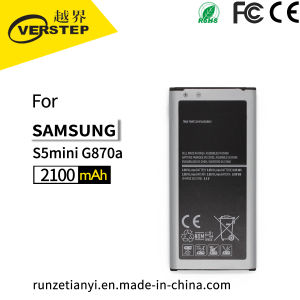 2018 Nueva Batería para Samsung Galaxy S5 Mini Sm-G800f Eb-Bg800bbe 2100 mAh
