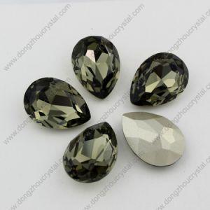 De buitensporige Steen van het Glas van het Kristal van de Diamant van de Daling van de Steen Zwarte voor Juwelen