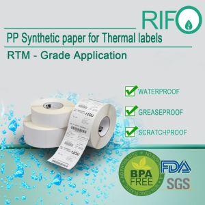 Etiquetas de papel de transferência térmica etiqueta adesiva de papel térmico removível