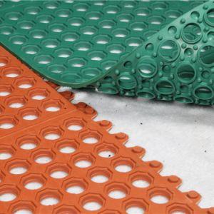 反スリップのゴム製マットのゴム製台所マット、ゴム製床のマット