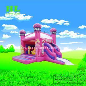 膨脹可能なコンボの弾力がある城の跳躍の家