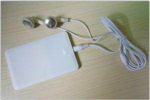 Super fino e elegante leitor de MP3 do cartão de visita