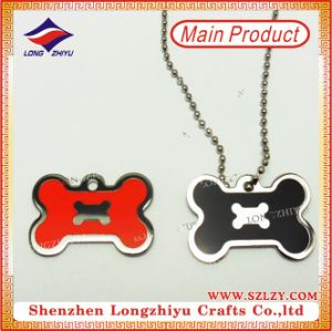 Multifuncional del metal rojo Abrebotellas Dog Tag