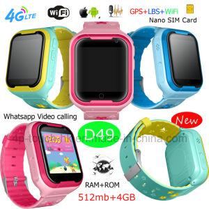 4G WiFi scherzt Sicherheit GPS-Verfolger-Uhr für androides System D49