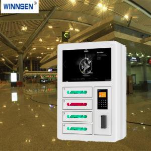 6 portes avec de la publicité de l'écran LED Mobile Cell Phone Station de charge