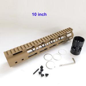 10, 12, 15 M-Lok Ra15 Handguard Free Float Rampa design ultraleve a porca do tambor de aço Fde/cor bege