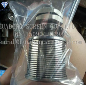 Высокое качество SS316 разъем 0,75 мм водяного столба Nozzoles / Джонсон сетчатый фильтр Nozzoles