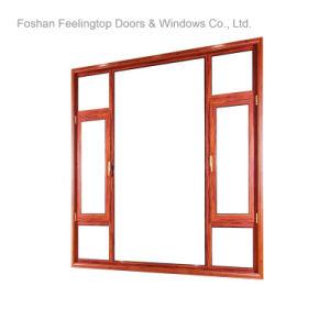 エネルギー効率が良い二重ガラスアルミニウム開き窓Windows (FT-135)