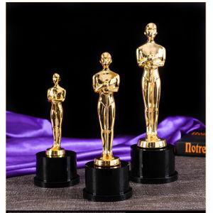 Elegante cristal el premio Oscar Trofeo de metal para el recuerdo