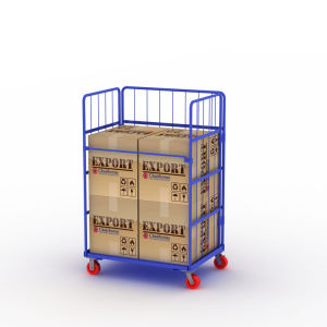 جيّدة يبيع شحن تخزين نقل حامل متحرّك طي لف وعاء صندوق