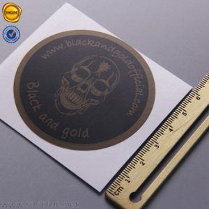 Sinicline personalizado caliente negro etiqueta logo impreso en papel sellado