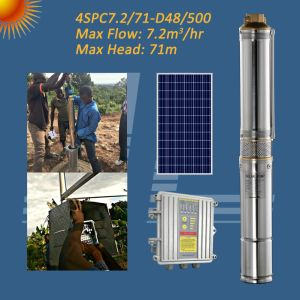 4-дюймовый 48V на солнечной энергии на полупогружном судне BLDC центробежного насоса, отверстием насоса