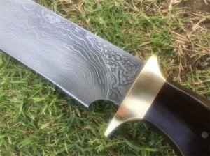 Hecho a mano cuchillo de caza de Damasco SS027