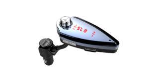 Llegan nuevos T6s Car Kit Manos Libres Bluetooth con doble puerto USB soporte cargador de la tarjeta del TF Transmisor de FM