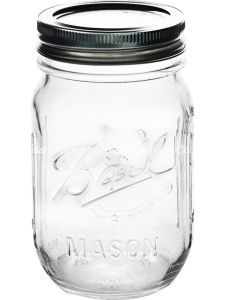Vaso de zumo de frutas batido de Mason botella con tapa