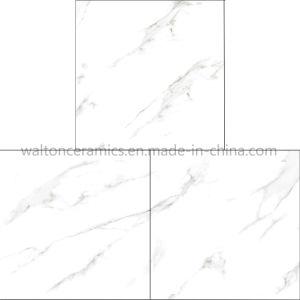 Tegel 600X600 van de Muur van de Tegel van de Bevloering van het Porselein van het Ontwerp van Italië de Witte Marmer Verglaasde
