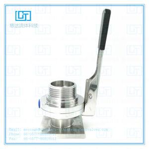 SS304L SS316L solo baja presión roscados de acero inoxidable higiénico sanitarias las válvulas de mariposa