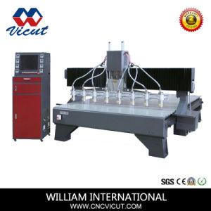 Macchina per incidere di legno di CNC dell'asse di rotazione ad alta velocità di qualità 6 Vct-2013W-6h