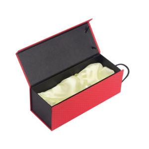 리본을%s 가진 마분지 종이상자 주문 자석 포도주 포장 상자