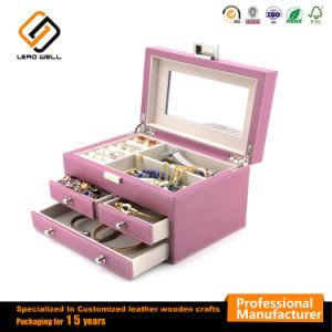 Caja de joyas de espejo portátil Cajón de regalo para mujer