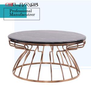 Fabricante China de mármol duradero mesa de comedor con estructura metálica