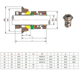 A vedação mecânica tipo Cr a vedação do cartucho para Bomba Grundfos