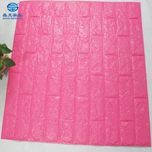 Rose Blanc PE de panneaux muraux de papier peint de briques en 3D 3D Stickers muraux en mousse pour décoration maison