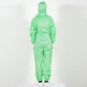 주문을 받아서 만들어진 크기 정전기 방지 일 한 벌 산업 청정실 ESD 옷