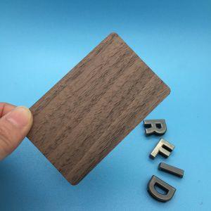 RFID senza contatto 13.56 scheda di legno classica e modifica di iso MIFARE dell'ANIMALE DOMESTICO di megahertz 4K