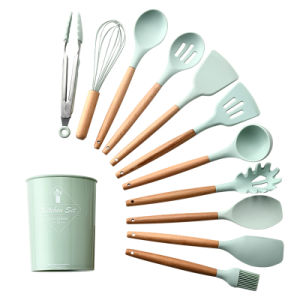 Инструменты для приготовления пищи, Premium Teal силикона кухонные принадлежности (12 ПК/set)