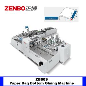 Sac de papier carte de fond d'encollage en bas de l'insertion de replier la machine Zb60s
