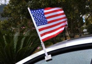 De Polyester die van de douane de Nationale Vlag van de Banner van de Auto van de Club adverteren