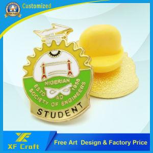 Banhado a Ouro personalizados de alta qualidade Monograma do Pino do esmalte com fecho da borboleta (XF-BG02)