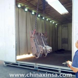 Low-Cost aucune infrastructure Honeycomb Type de sol salle de sablage avec système de recyclage automatique abrasifs
